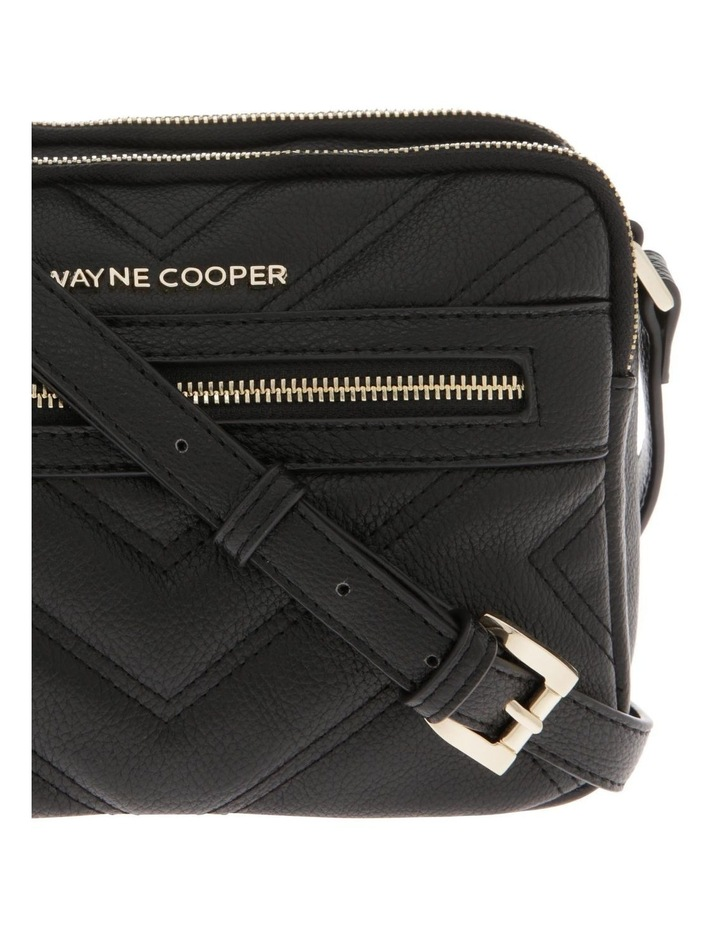 Stephanie Zip Top Black Crossbody Bag image 3