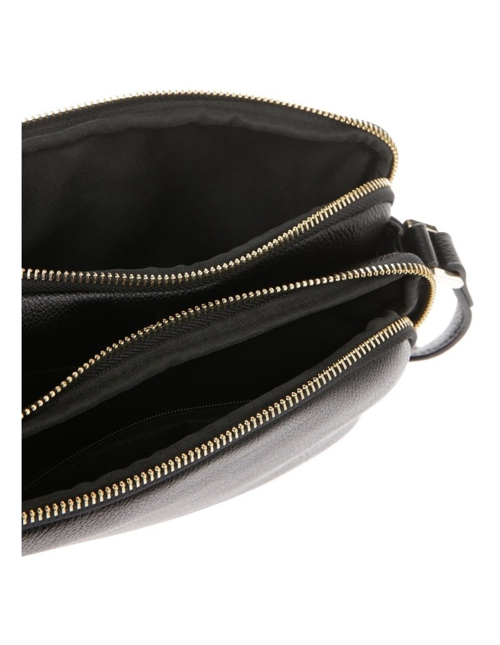 Stephanie Zip Top Black Crossbody Bag image 4