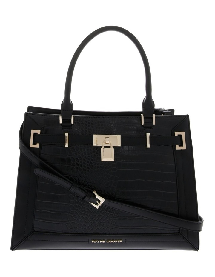 Chelsea Double Handle Black Tote Bag image 1