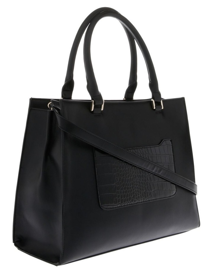 Chelsea Double Handle Black Tote Bag image 2