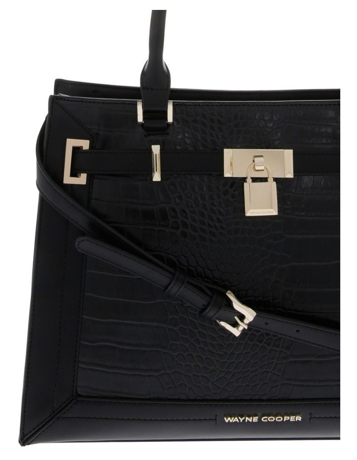 Chelsea Double Handle Black Tote Bag image 3