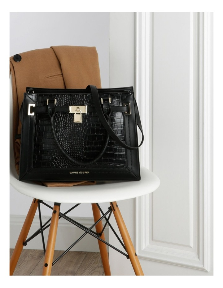Chelsea Double Handle Black Tote Bag image 5
