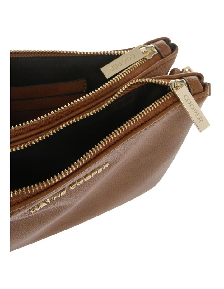 Vanessa Zip Top Tan Crossbody Bag image 4