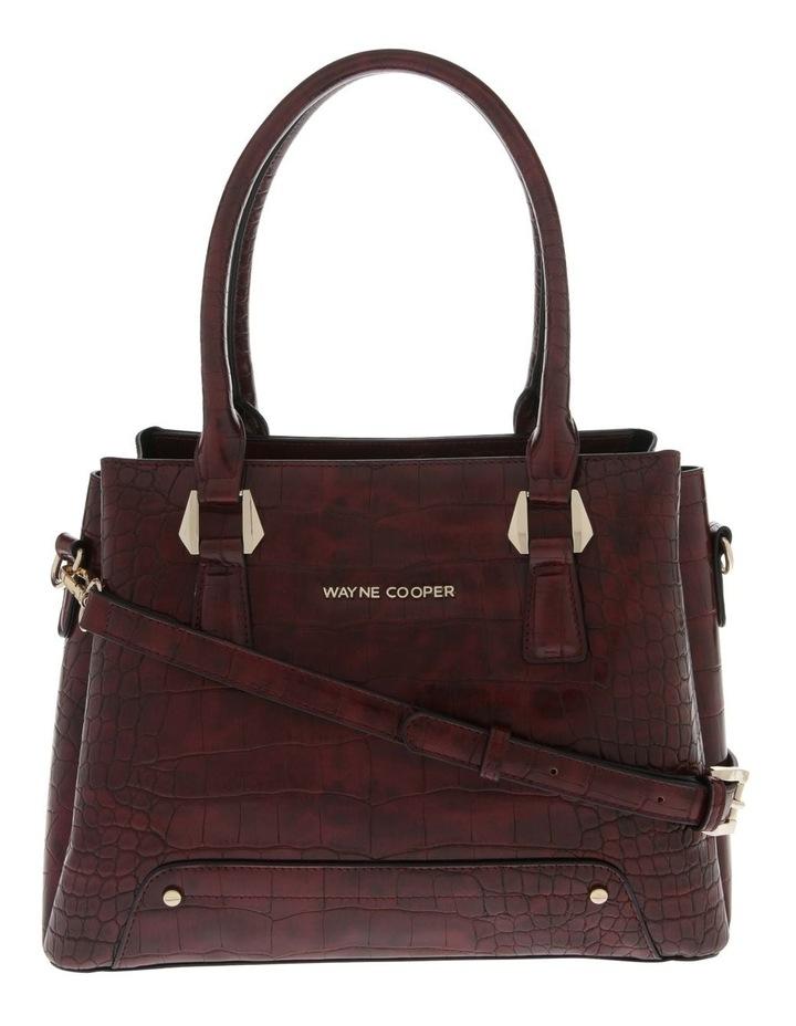 Rachel Double Handle Burgundy Tote Bag image 1