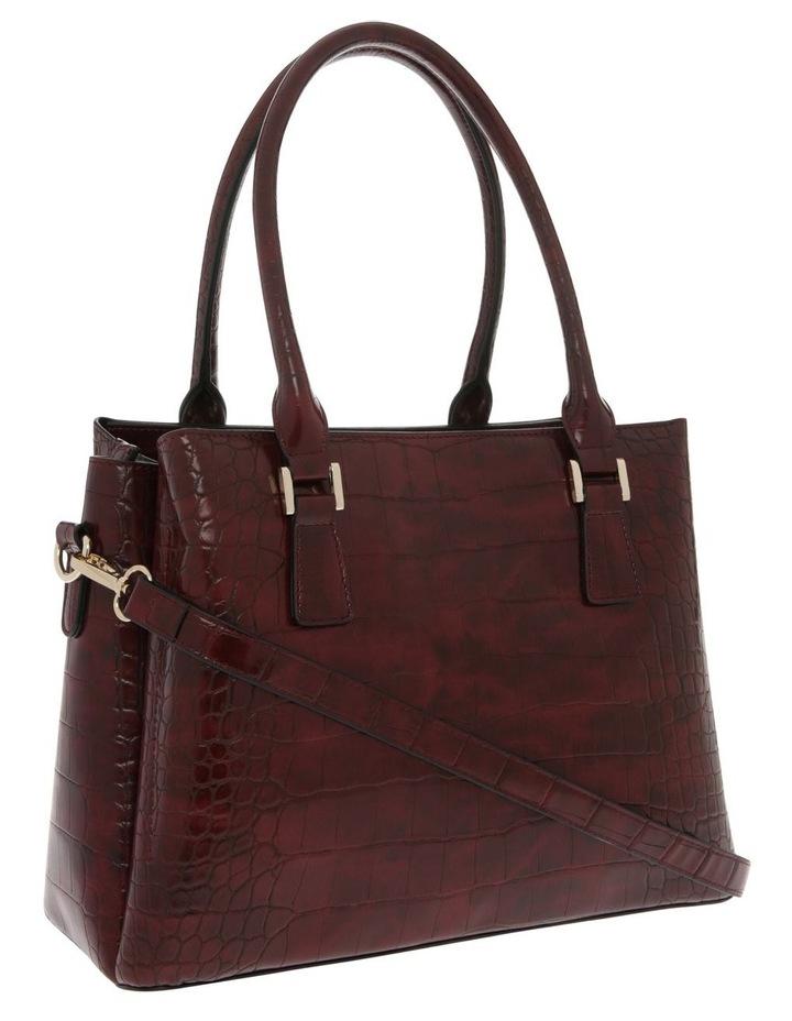 Rachel Double Handle Burgundy Tote Bag image 2
