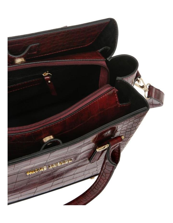 Rachel Double Handle Burgundy Tote Bag image 4