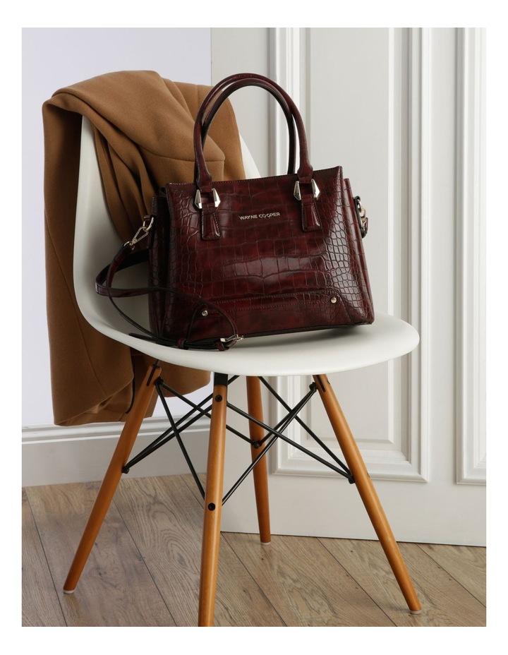 Rachel Double Handle Burgundy Tote Bag image 5