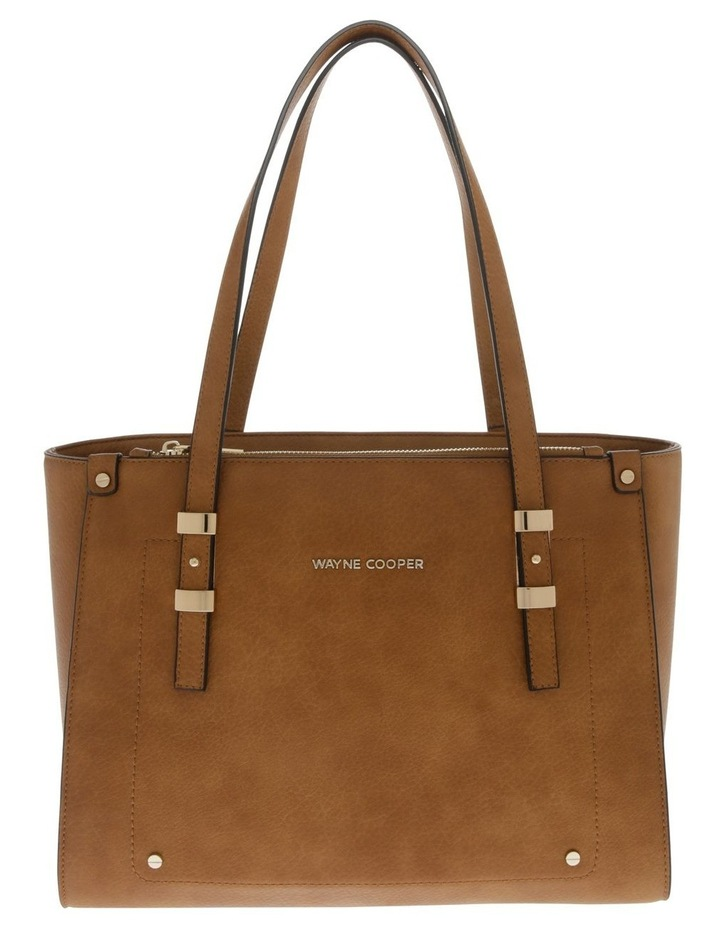 Olivia Double Handle Tan Tote Bag image 1