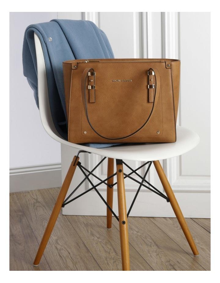 Olivia Double Handle Tan Tote Bag image 5
