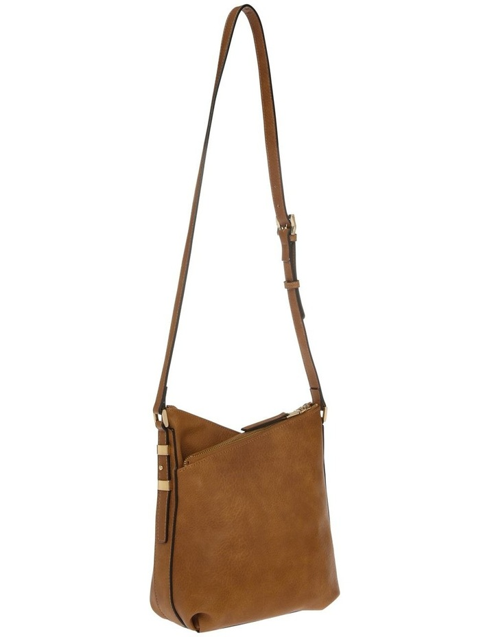 Olivia Zip Top Tan Crossbody Bag image 2