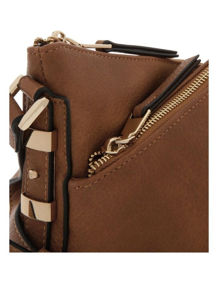 Olivia Zip Top Tan Crossbody Bag image 3