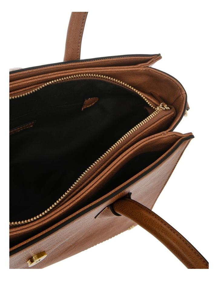 Amelie Double Handle Tan Tote Bag image 4