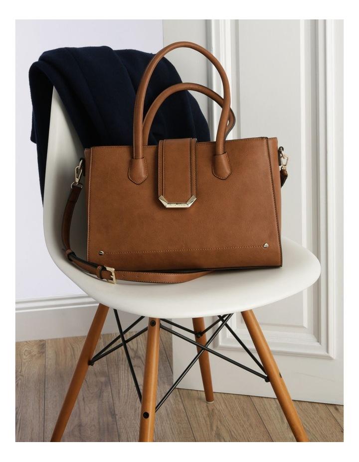 Amelie Double Handle Tan Tote Bag image 5
