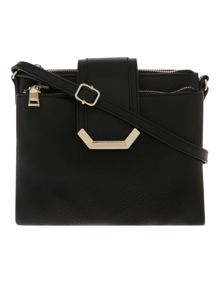 Amelie Zip Top Black Crossbody Bag image 1