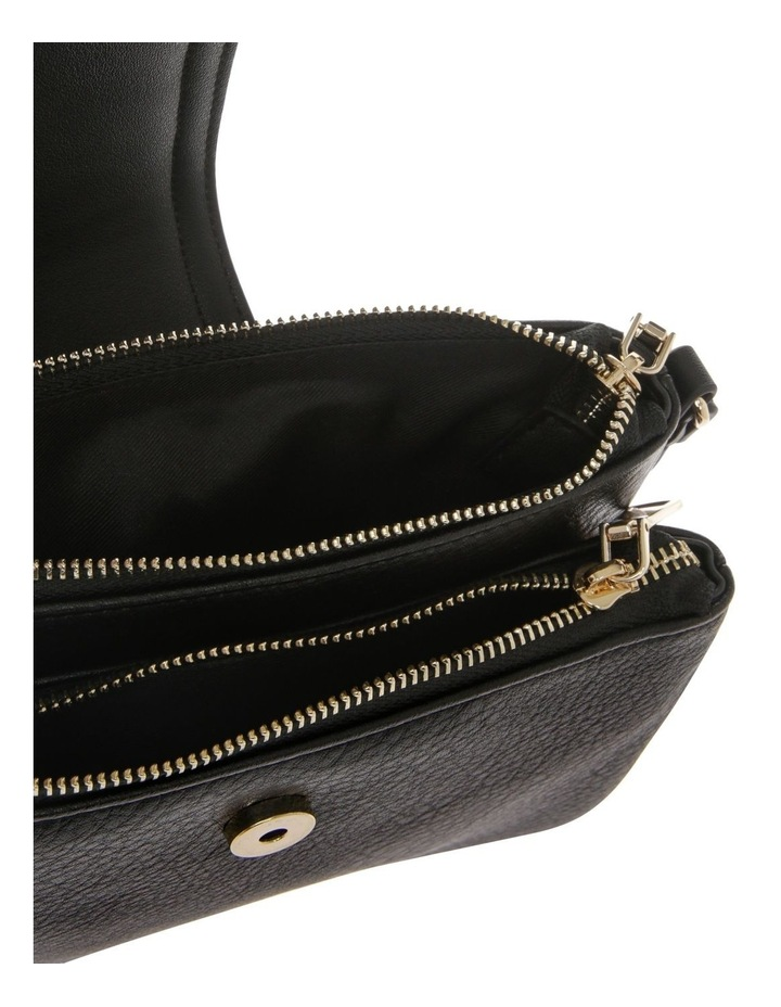 Amelie Zip Top Black Crossbody Bag image 4