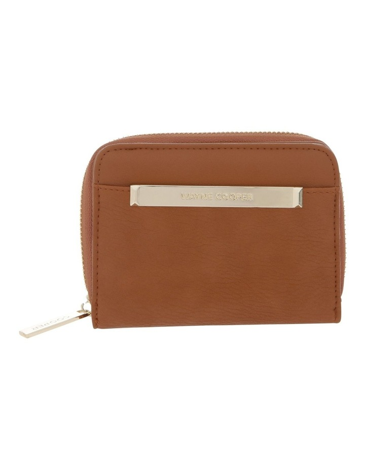 Ebony Zip-Around Wallet in Tan Brown image 1