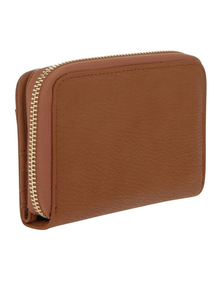 Ebony Zip-Around Wallet in Tan Brown image 2