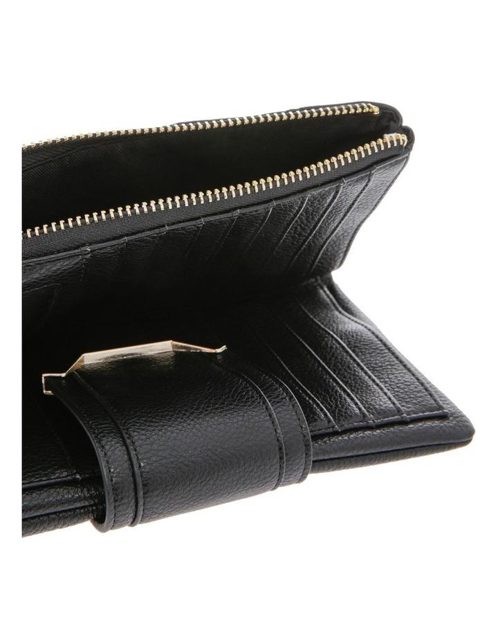 Stephanie Flap Over Black Wallet image 3