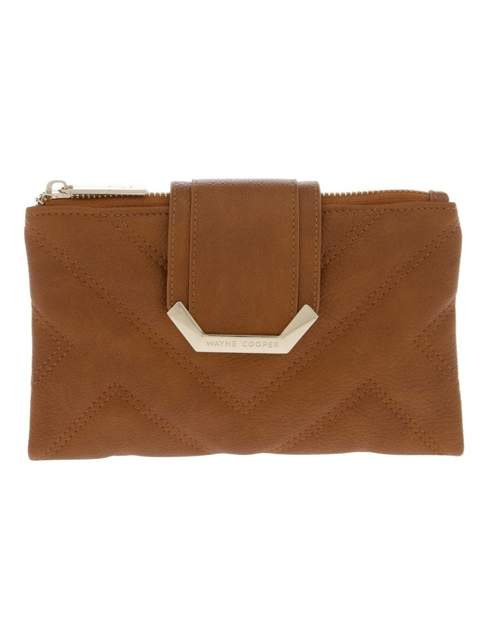 Stephanie Flap Over Tan Wallet image 1