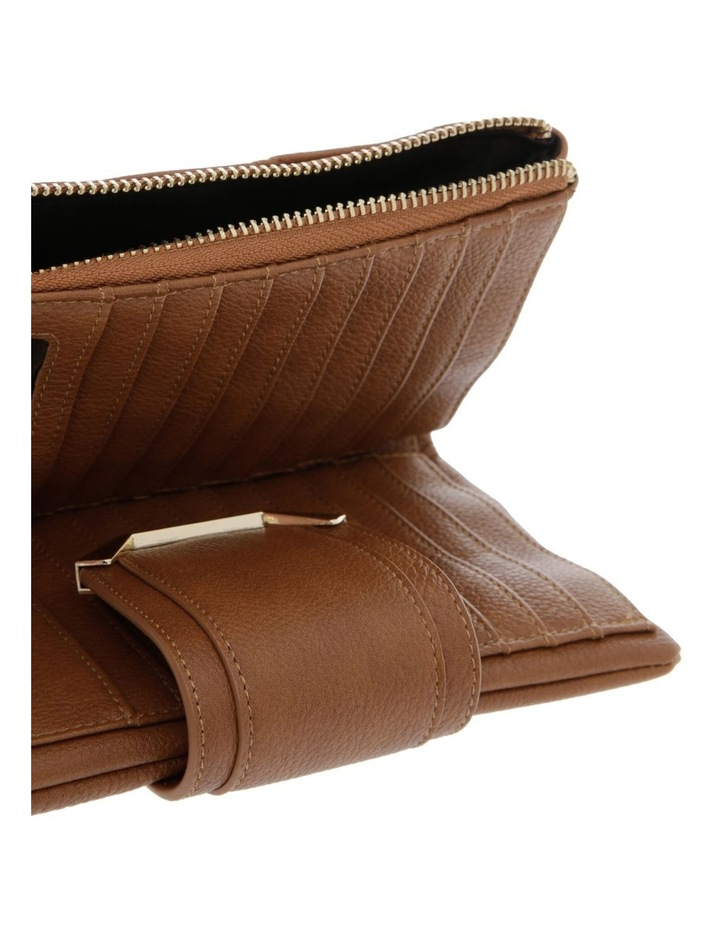 Stephanie Flap Over Tan Wallet image 3