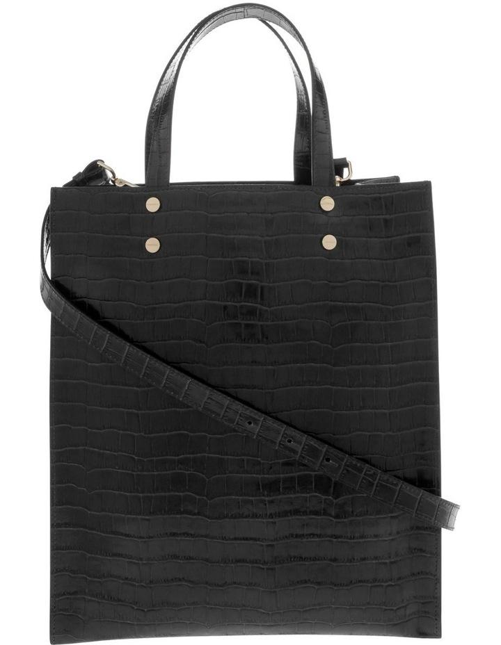 Rosa Double Handle Black Tote Bag image 1
