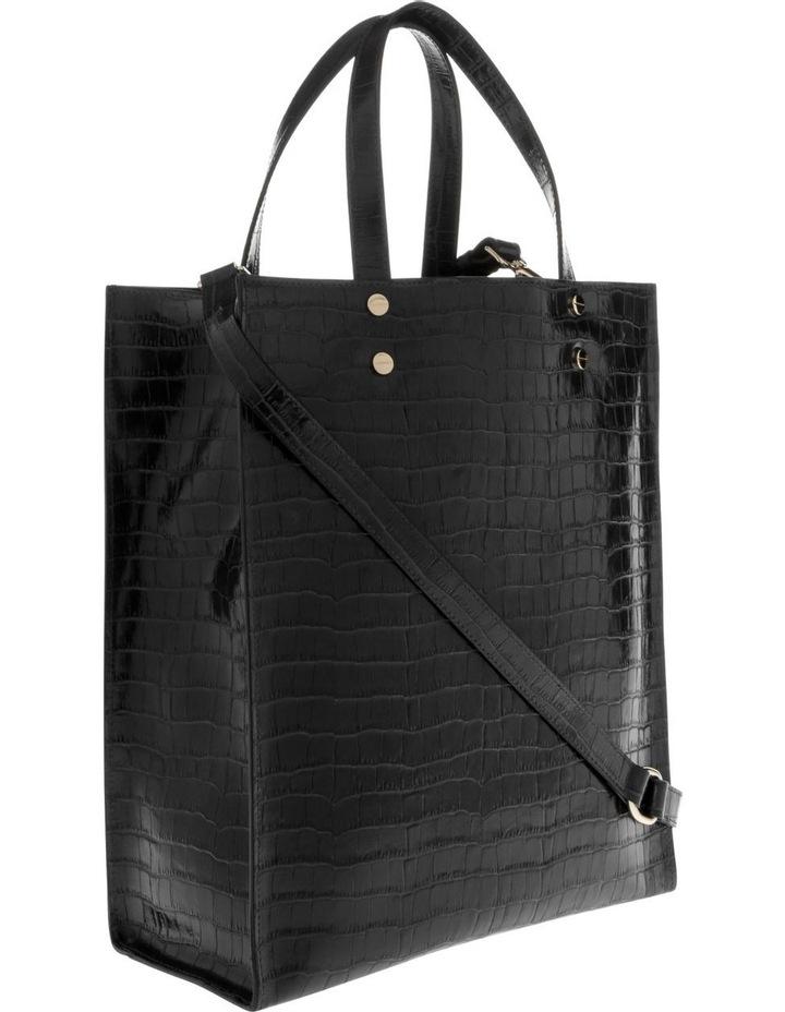 Rosa Double Handle Black Tote Bag image 2