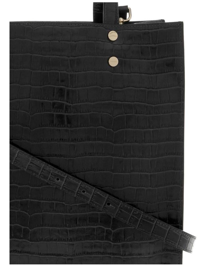 Rosa Double Handle Black Tote Bag image 3