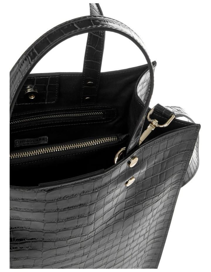 Rosa Double Handle Black Tote Bag image 4
