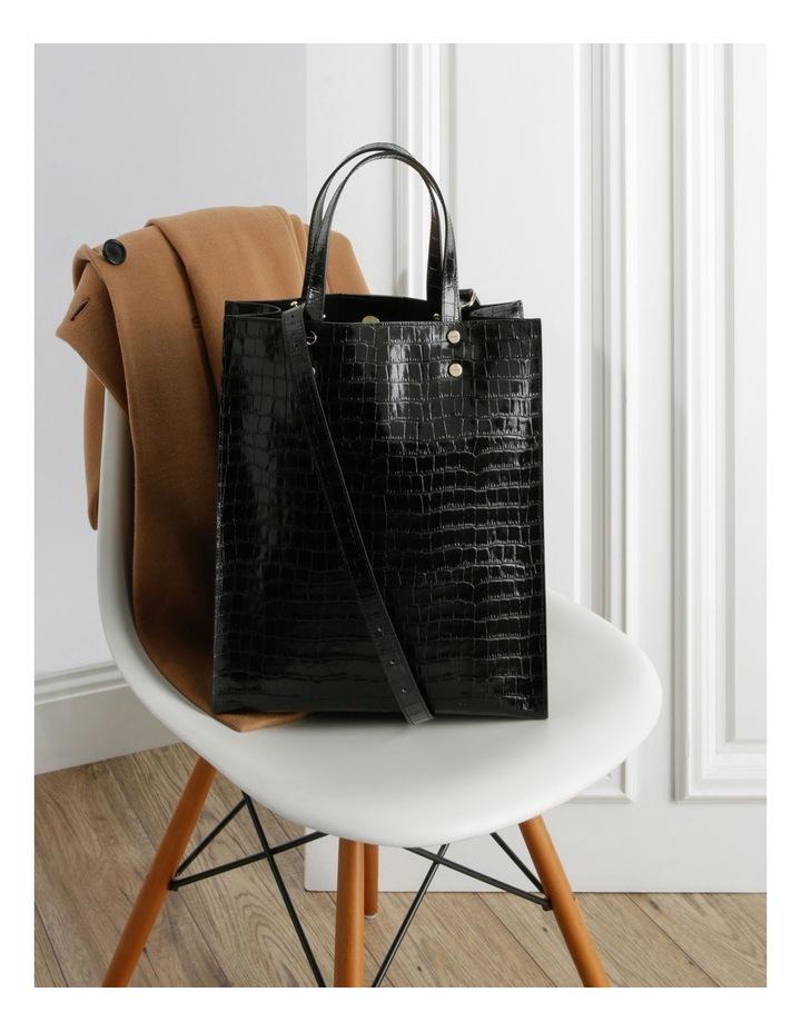 Rosa Double Handle Black Tote Bag image 5