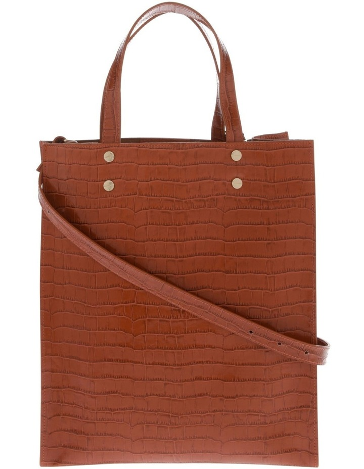 Rosa Double Handle Tan Tote Bag image 1
