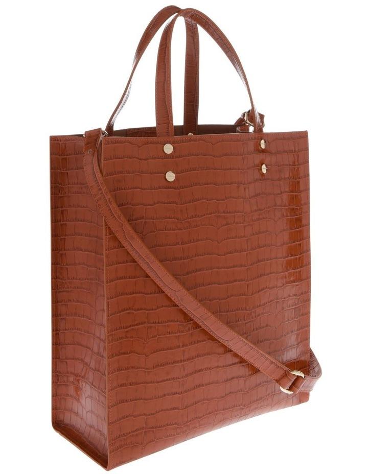 Rosa Double Handle Tan Tote Bag image 2
