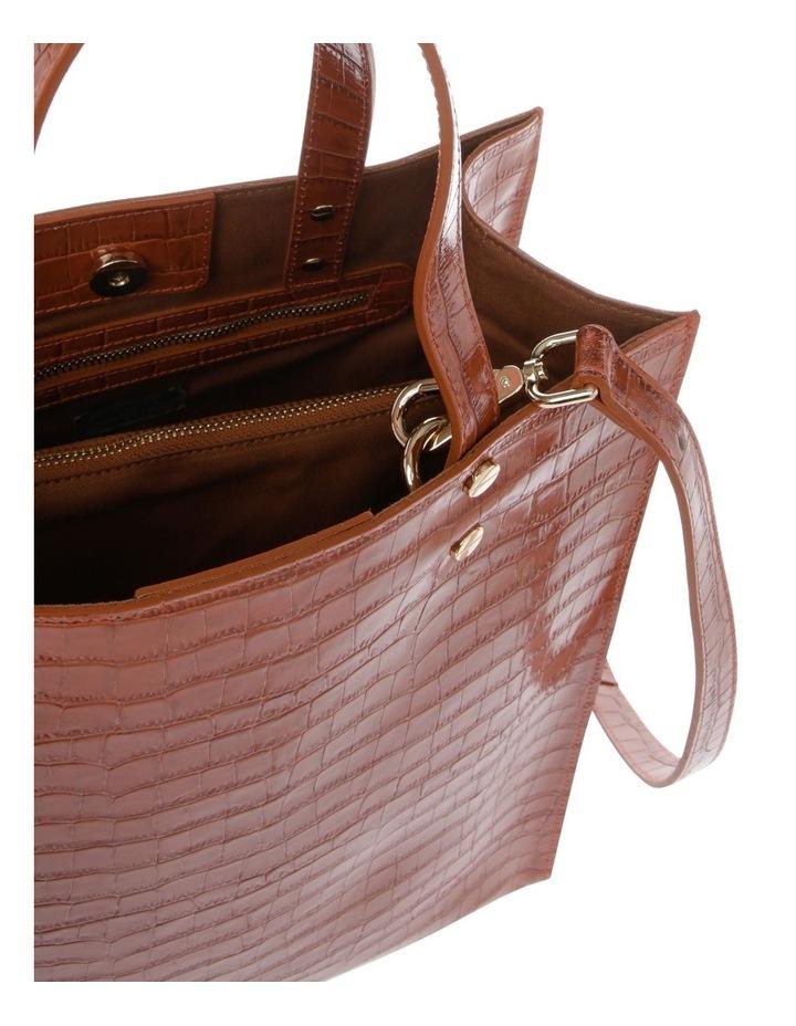 Rosa Double Handle Tan Tote Bag image 4