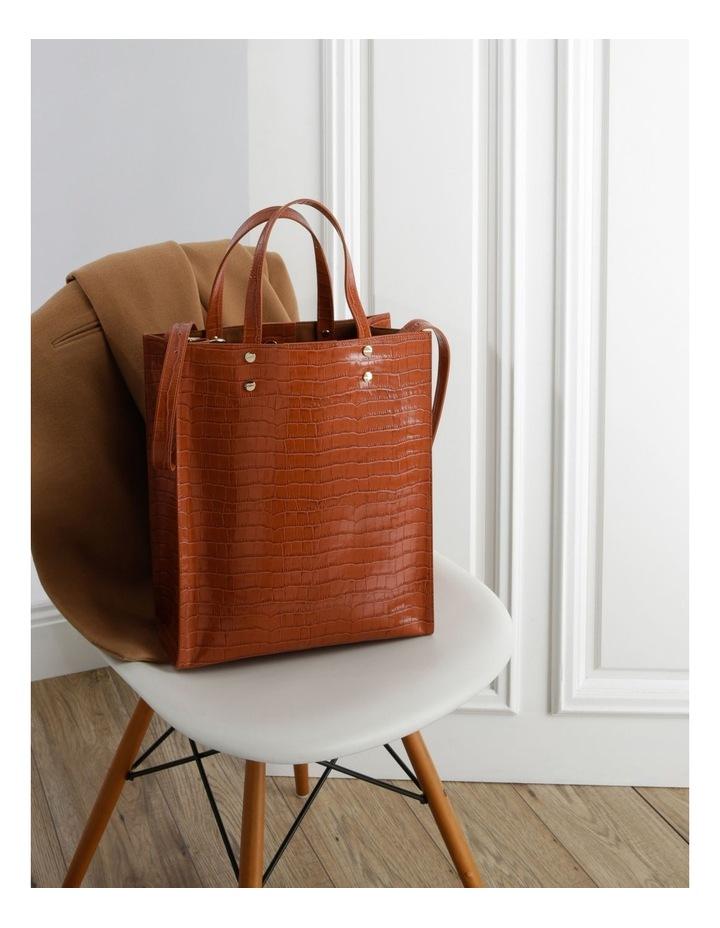 Rosa Double Handle Tan Tote Bag image 5
