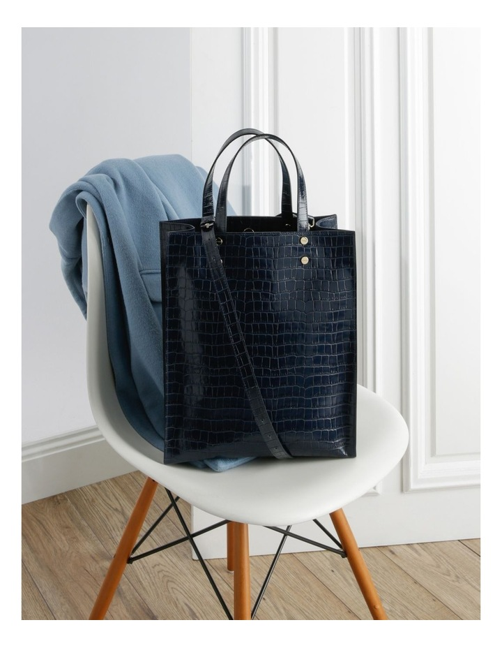 Rosa Double Handle Navy Tote Bag image 5