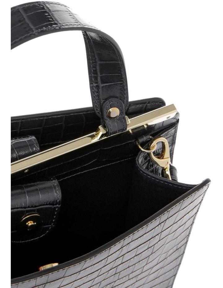 Alessa Top Handle Black Crossbody Bag image 4