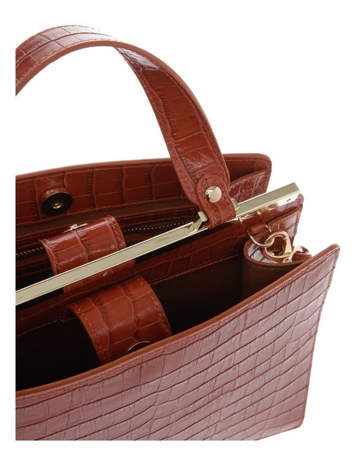 Alessa Top Handle Tan Crossbody Bag image 4