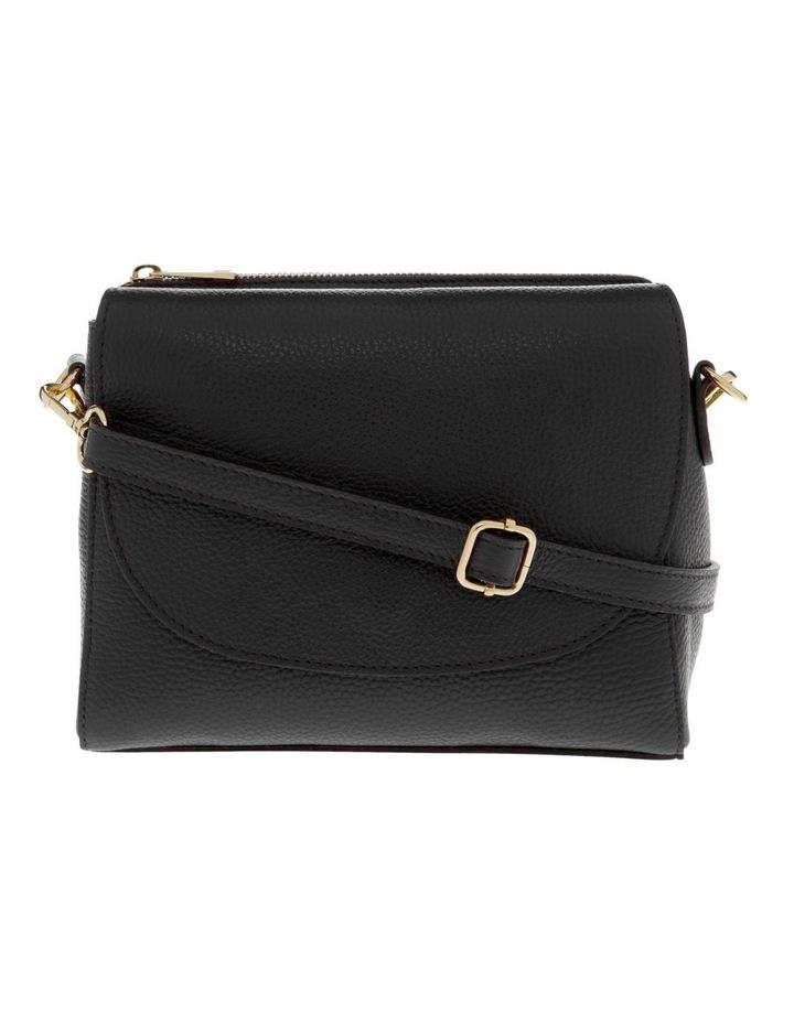 Ava Black Flap-Over Crossbody Bag image 1