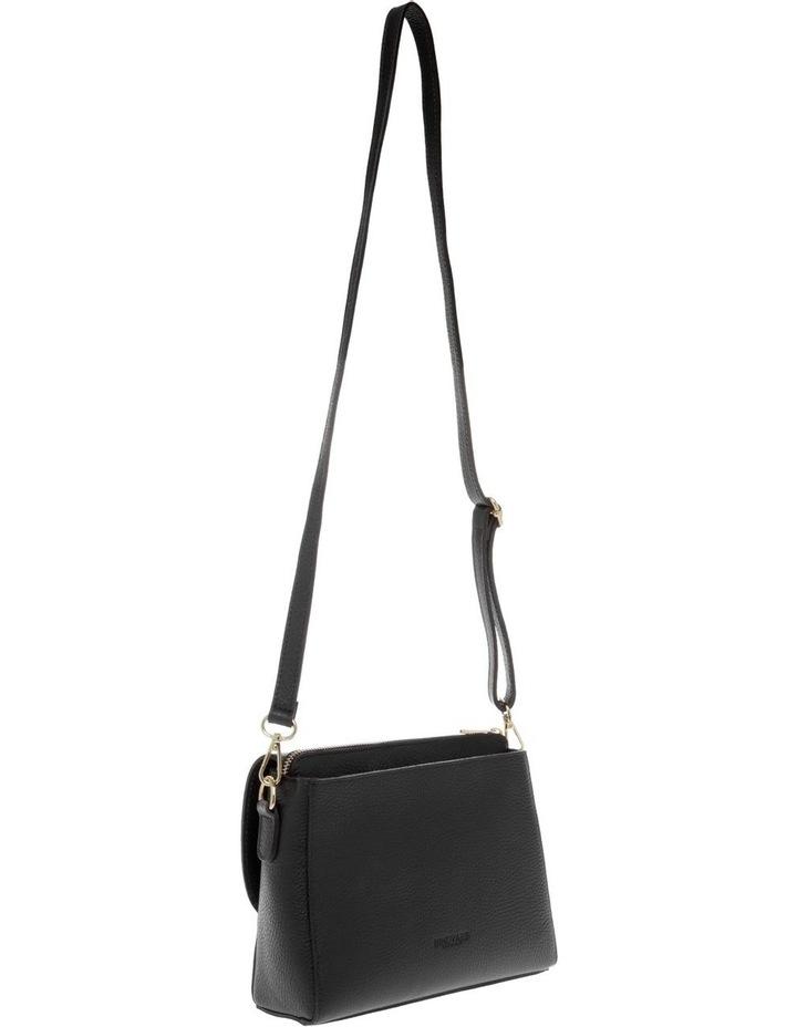 Ava Black Flap-Over Crossbody Bag image 2