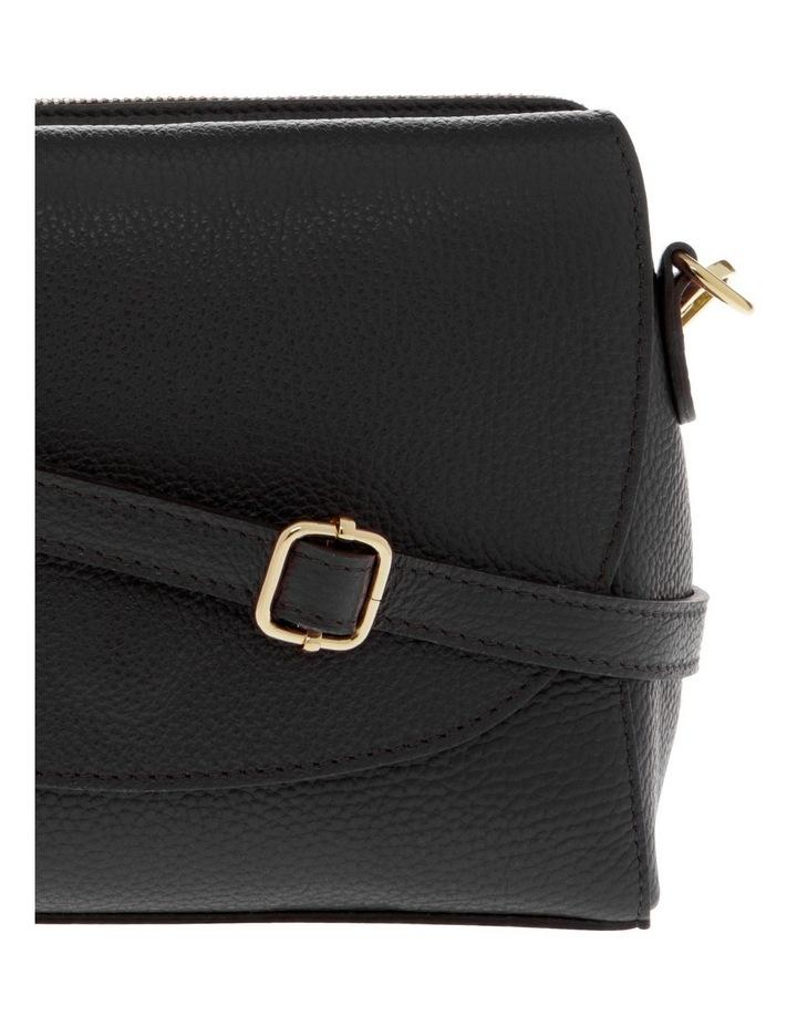 Ava Black Flap-Over Crossbody Bag image 3