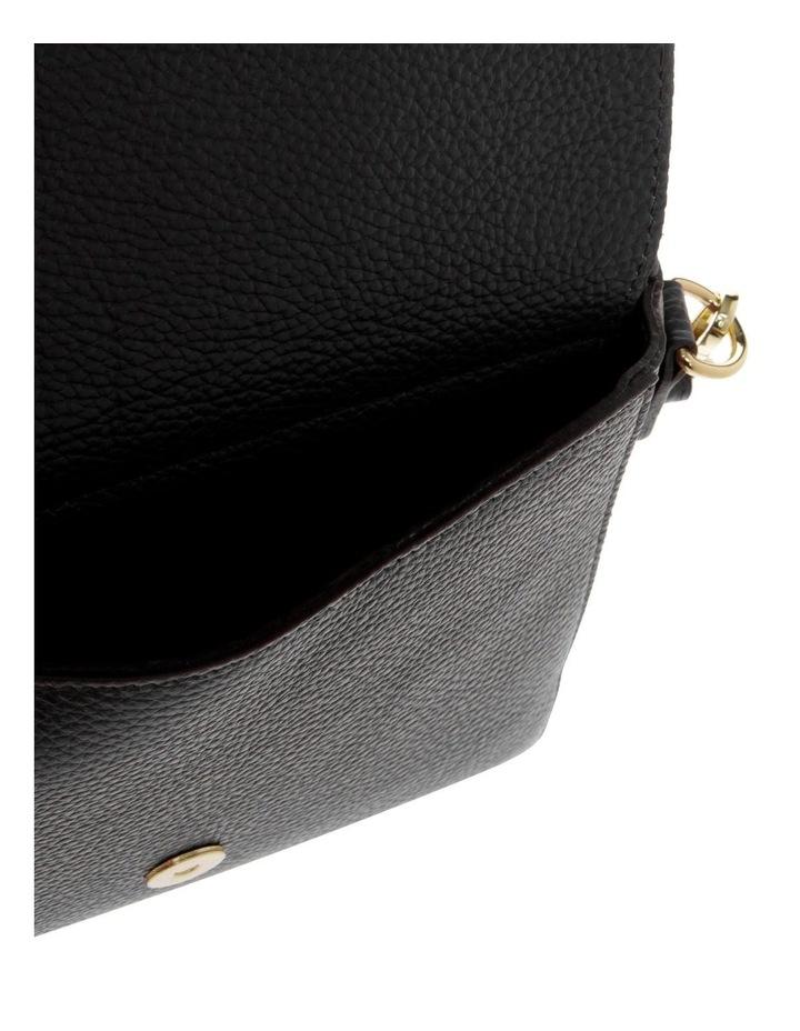 Ava Black Flap-Over Crossbody Bag image 4