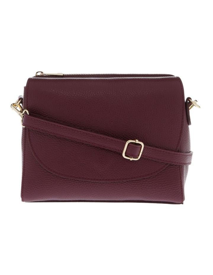 Ava Wine Flap-Over Crossbody Bag image 1
