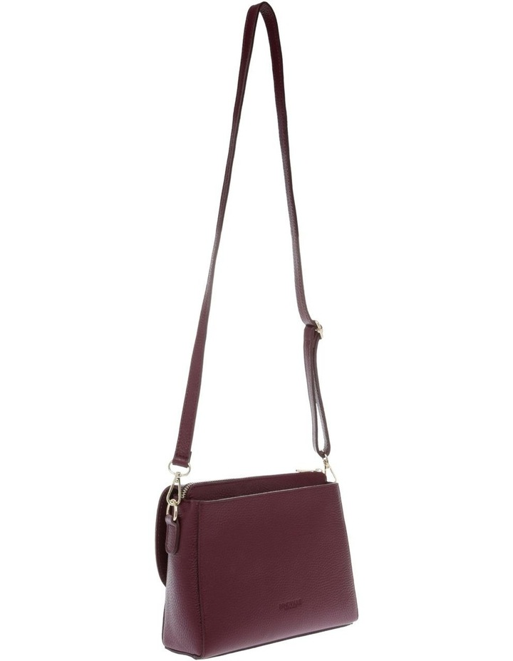 Ava Wine Flap-Over Crossbody Bag image 2