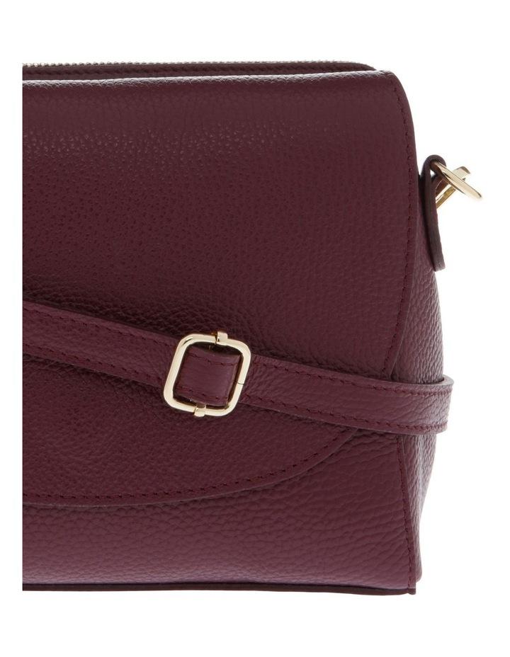 Ava Wine Flap-Over Crossbody Bag image 3