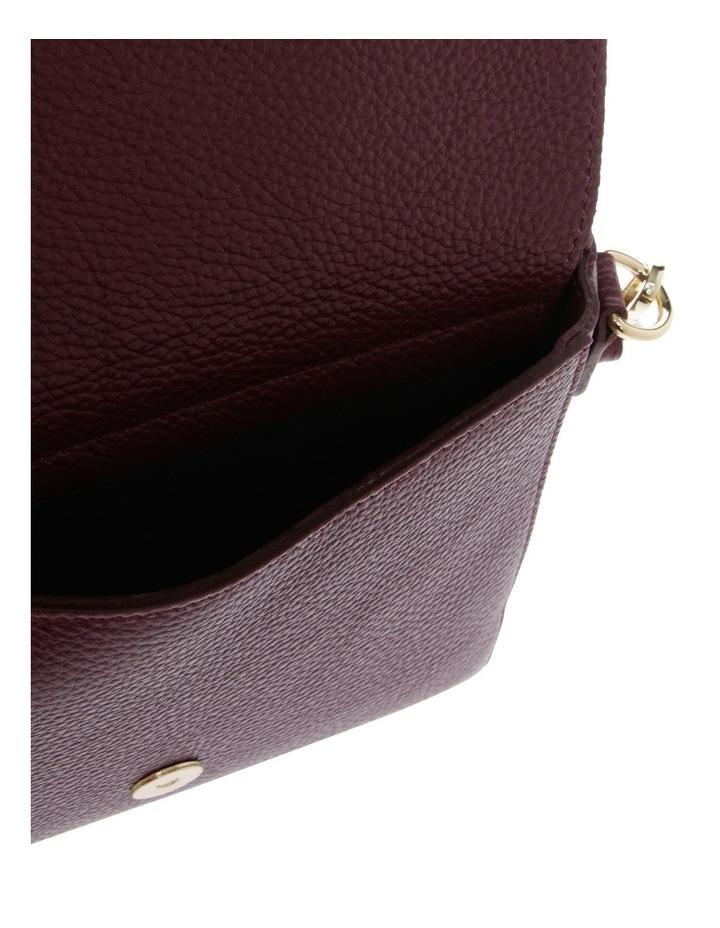 Ava Wine Flap-Over Crossbody Bag image 4
