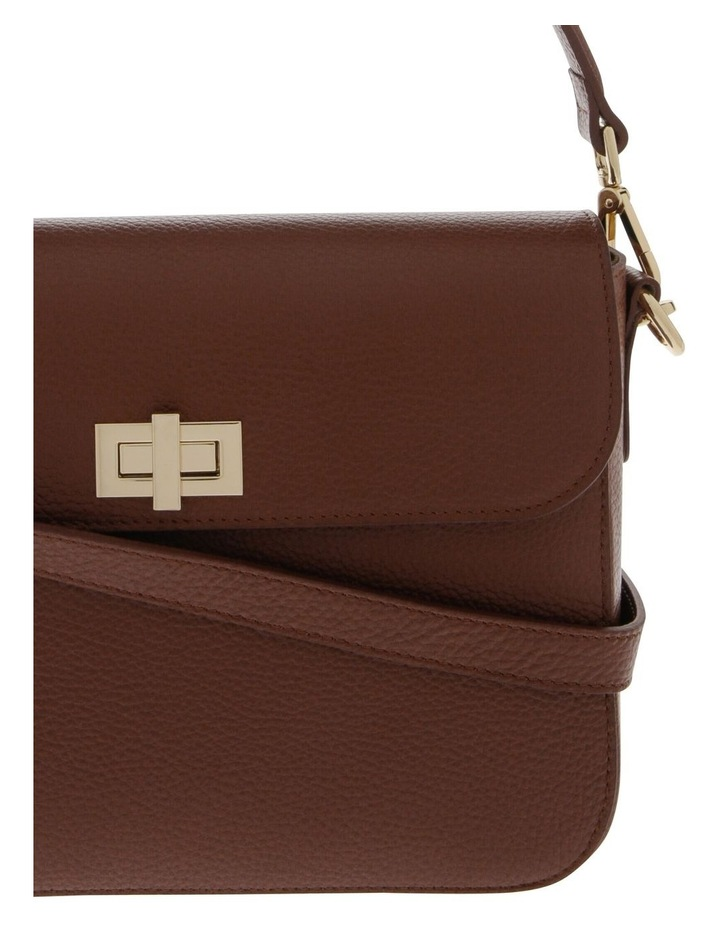 Valentina Flap Over Tan Crossbody Bag image 3
