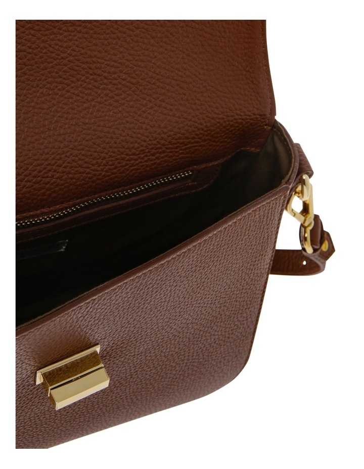 Valentina Flap Over Tan Crossbody Bag image 4