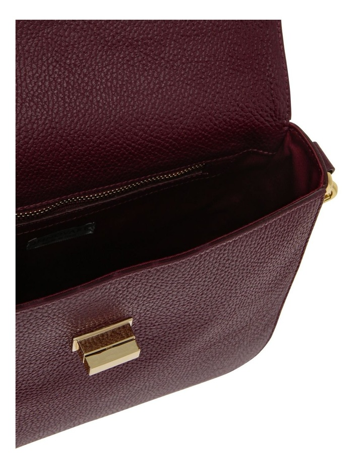 Valentina Flap Over Wine Crossbody Bag image 4