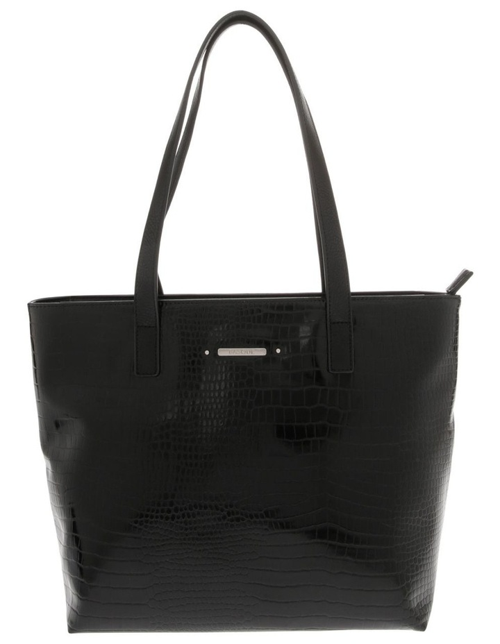 Allegra Double Handle Black Tote Bag image 1
