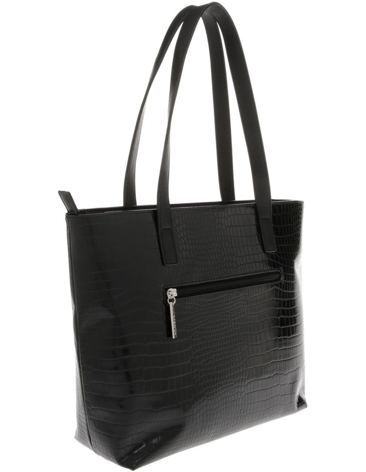 Allegra Double Handle Black Tote Bag image 2