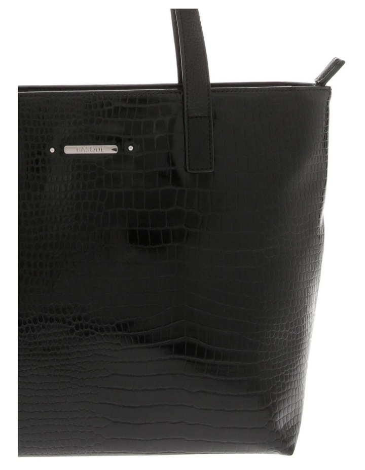 Allegra Double Handle Black Tote Bag image 3
